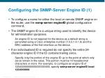 configuring the snmp server engine id 1