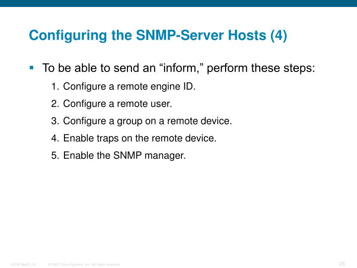Configuring the SNMP-Server Hosts (4)
