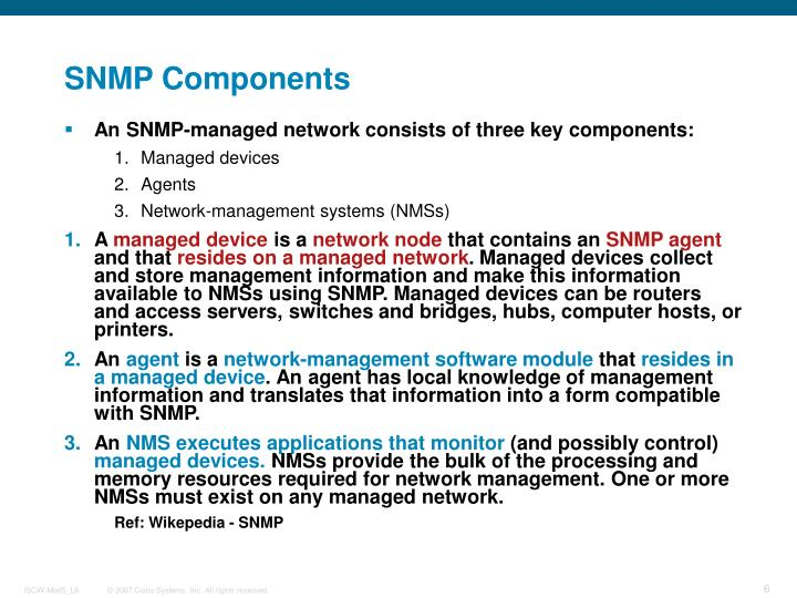 SNMP Components
