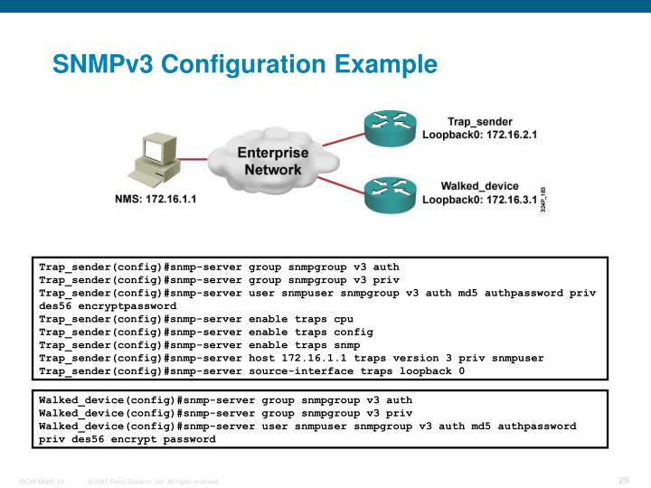 SNMPv3 Configuration Example