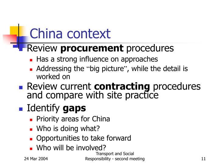 China context