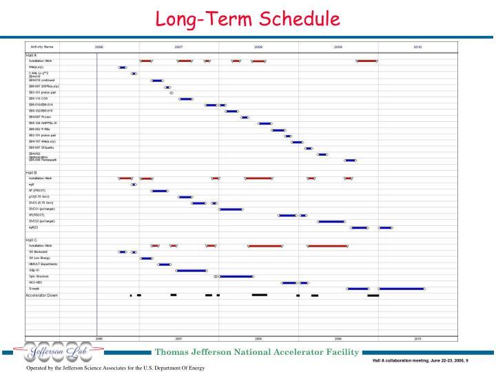 Long-Term Schedule