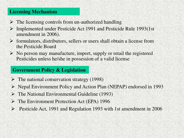 Licensing Mechanism