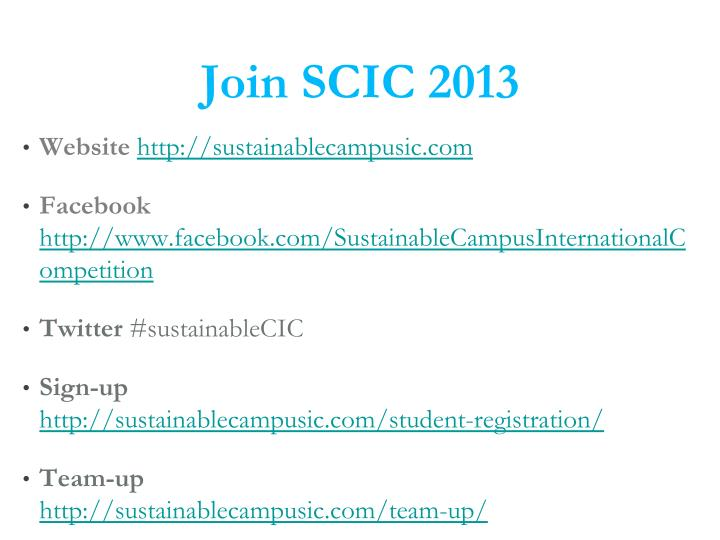 Join SCIC 2013