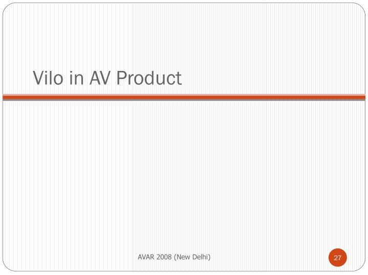 Vilo in AV Product