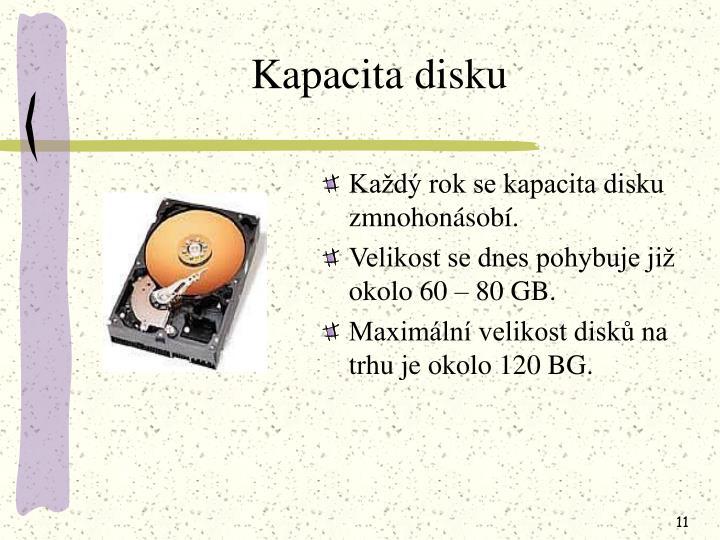 Kapacita disku