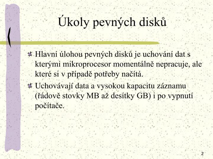 Úkoly pevných disků