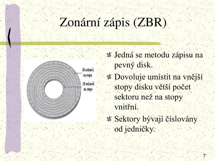 Zonární zápis (ZBR)