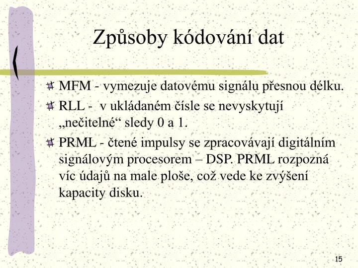 Způsoby kódování dat