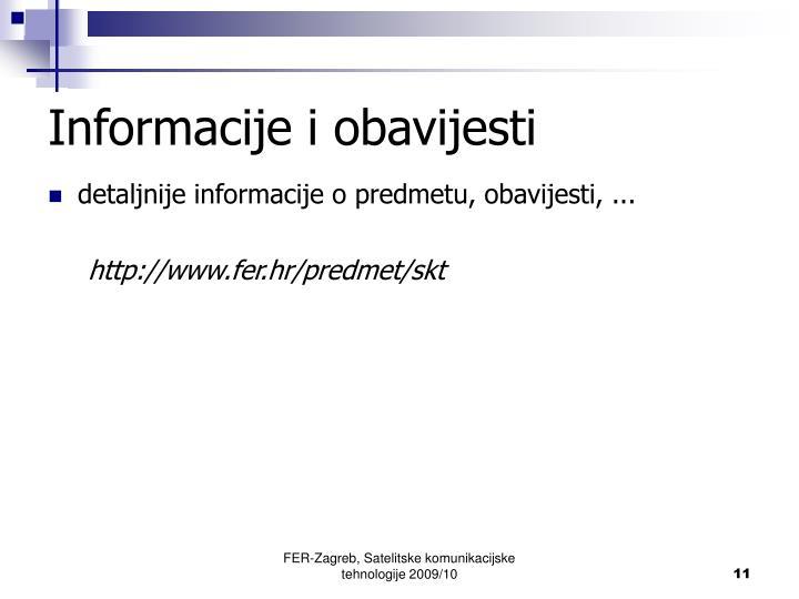 Informacije i obavijesti