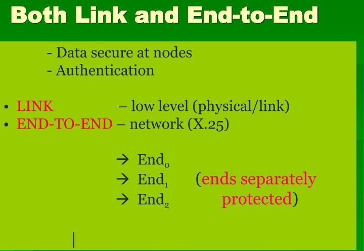 - Data secure at nodes