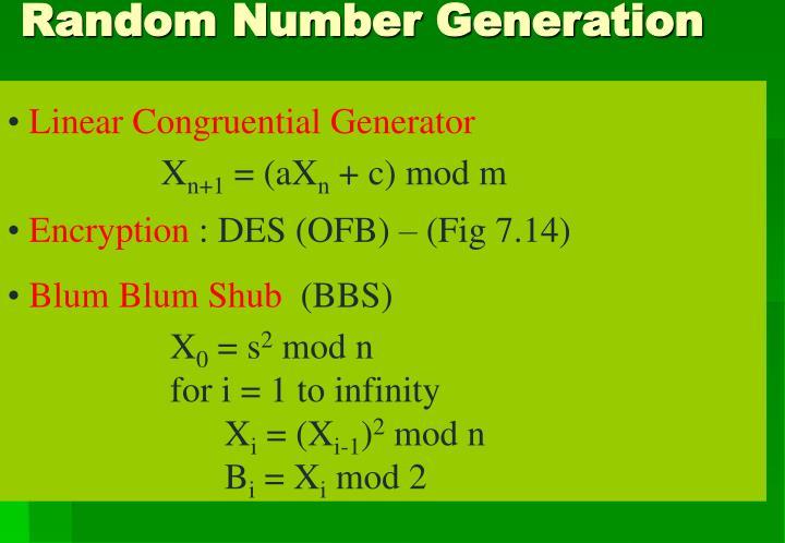 Linear Congruential Generator