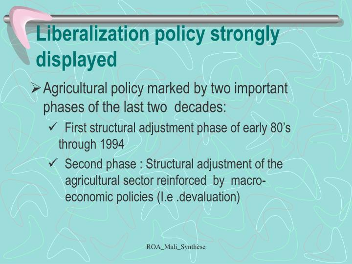 Liberalization policy strongly displayed