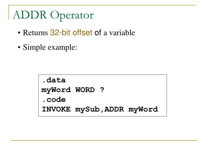 ADDR Operator