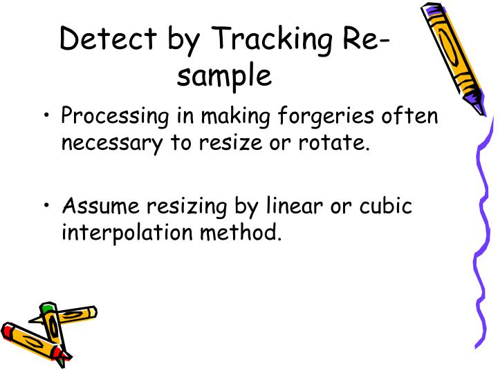 Detect by Tracking Re-sample