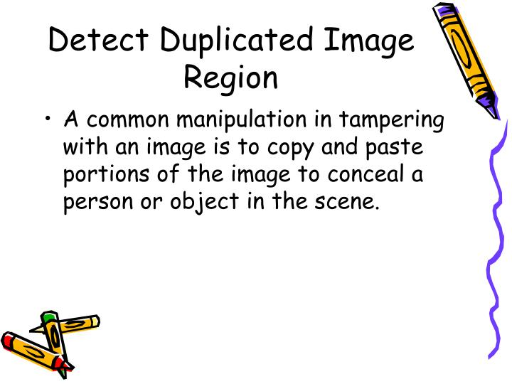 Detect Duplicated Image Region
