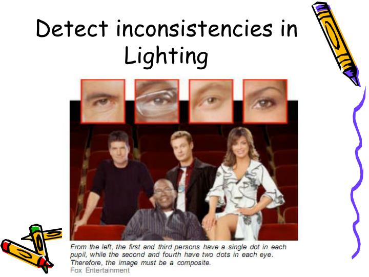 Detect inconsistencies in Lighting