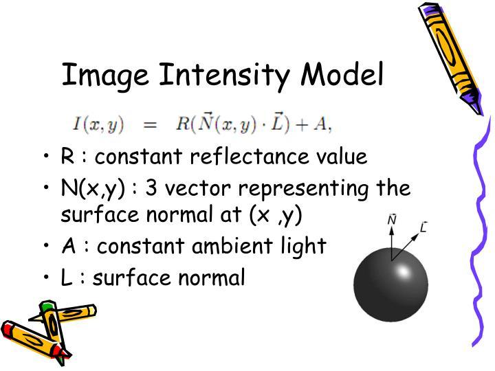Image Intensity Model