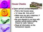 house checks