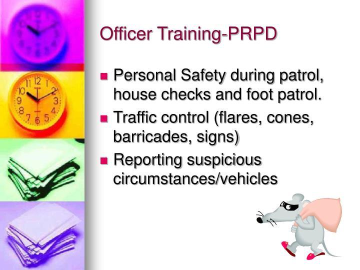 Officer Training-PRPD