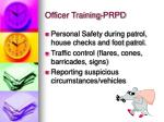 officer training prpd