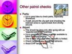 other patrol checks