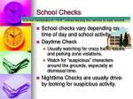 school checks