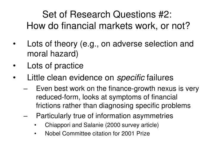 Set of Research Questions #2: