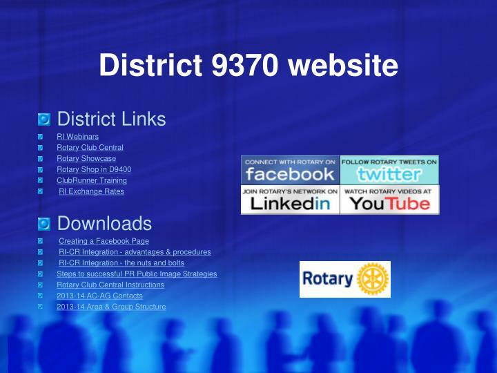 District 9370 website
