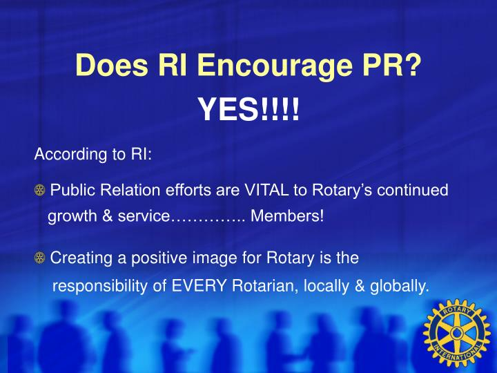 Does RI Encourage PR?