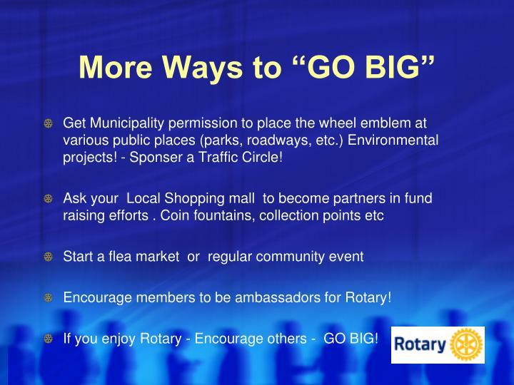 "More Ways to ""GO BIG"""
