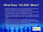 what does go big mean
