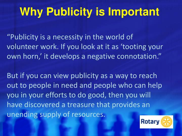 Why Publicity is Important