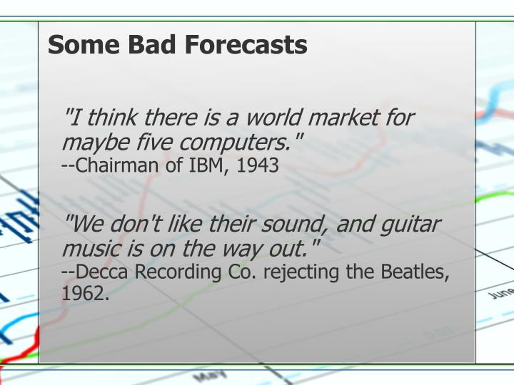 Some Bad Forecasts