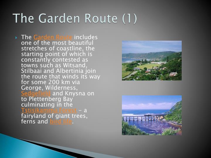 The Garden Route (1)