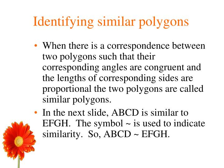 Identifying similar polygons