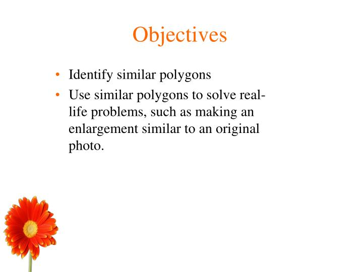 Identify similar polygons