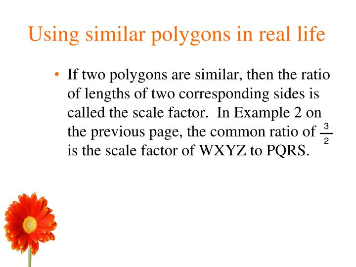Using similar polygons in real life
