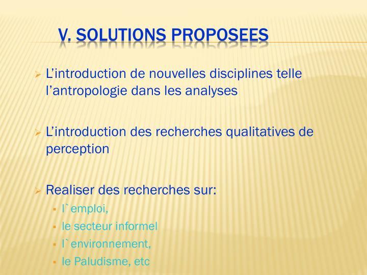 L'introduction de nouvelles disciplines telle l'antropologie dans les analyses