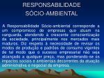 responsabilidade s cio ambiental