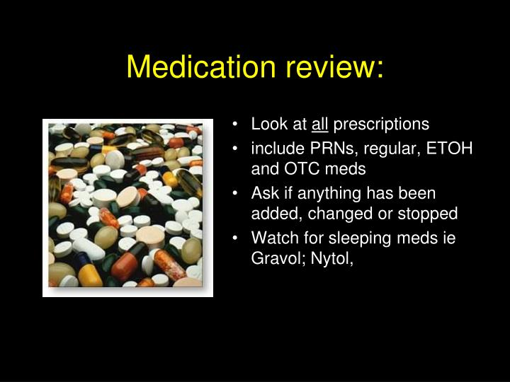 Medication review:
