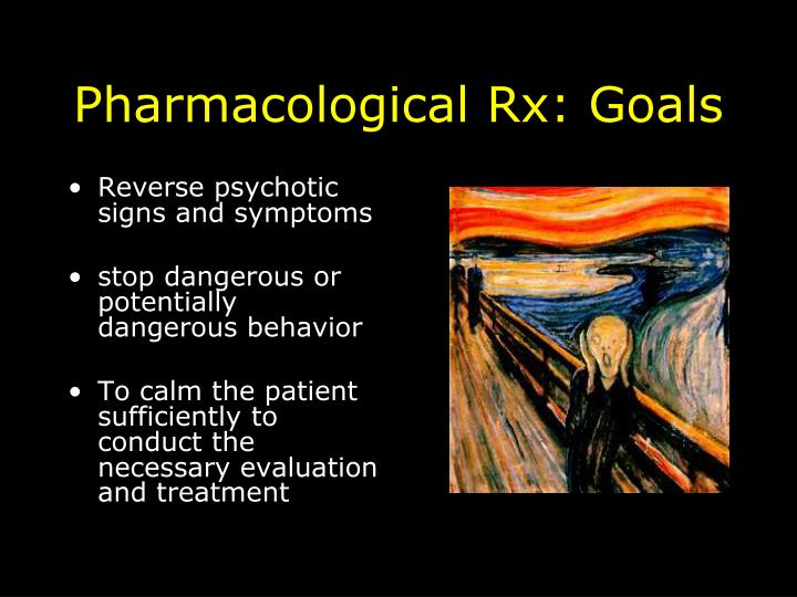 Pharmacological Rx: Goals
