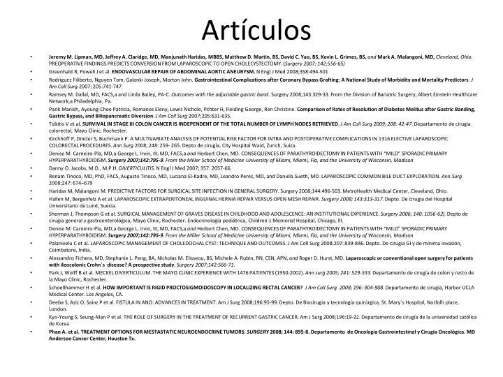 Artículos