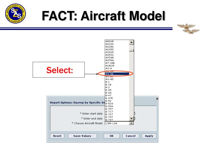 FACT: Aircraft Model