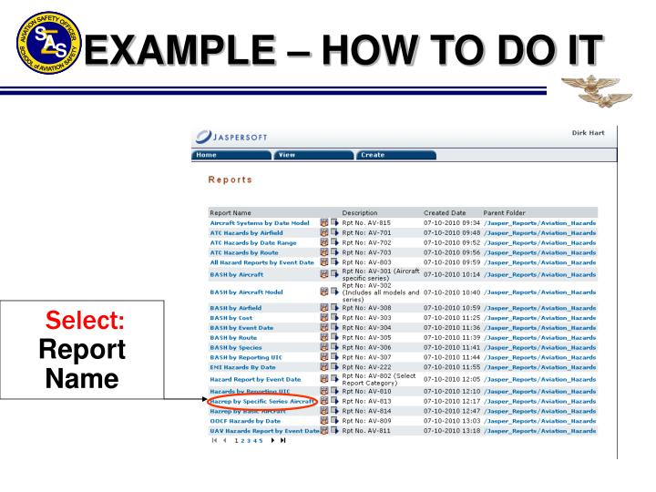 EXAMPLE – HOW TO DO IT