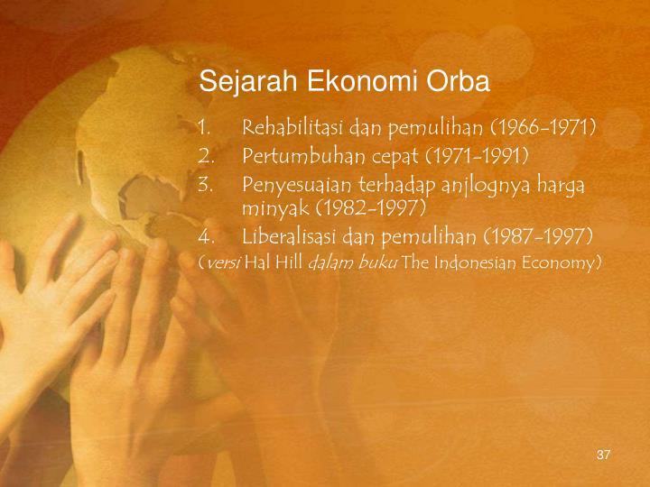 Sejarah Ekonomi Orba