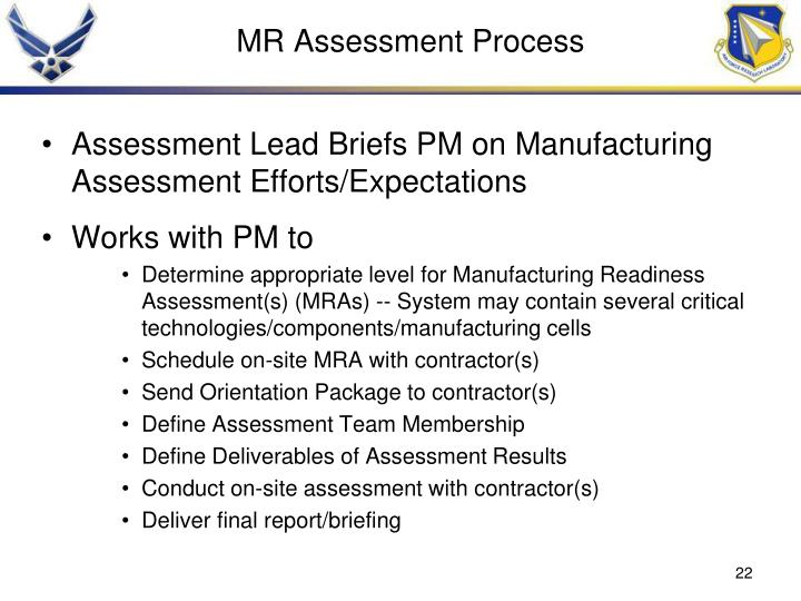MR Assessment Process
