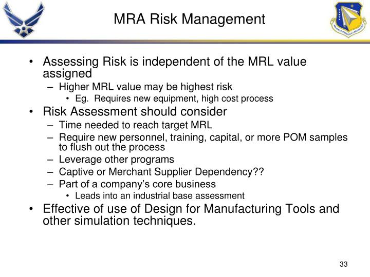 MRA Risk Management