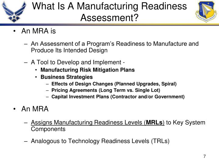 What Is A Manufacturing Readiness Assessment?