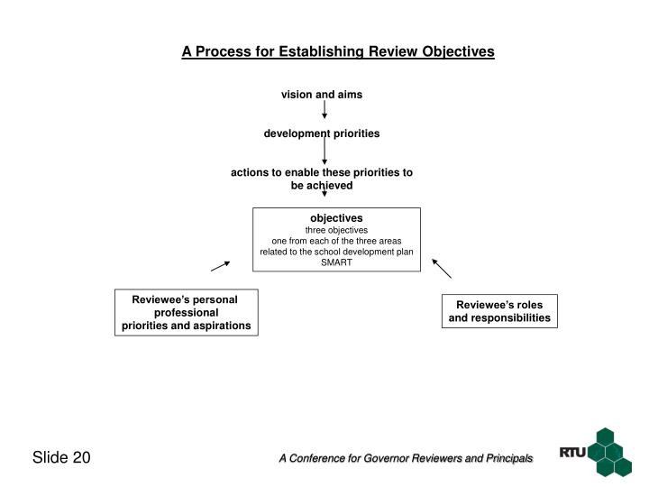A Process for Establishing Review Objectives